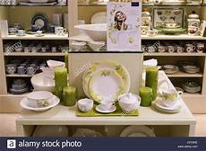 villeroy boch tableware on display in a china shop stock