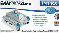 robot piscine hydraulique intex hydroflow 224 aspiration