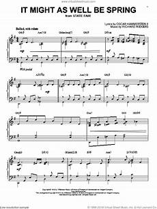 hammerstein it might as well be spring sheet music for piano solo