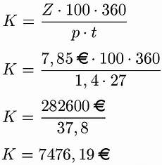 tageszinsen berechnen formel beispiele und definition