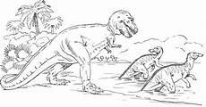 Ausmalbilder Dinosaurier Wasser Saurier Gehen Ins Wasser Ausmalbild Malvorlage Tiere