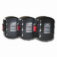 vhbw 3x batterie ni mh 3000mah 14 4v pour outils gho 14