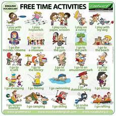 exercises y and en 19133 free time activities in vocabulario en ingles verbos ingles espa 241 ol y educacion ingles