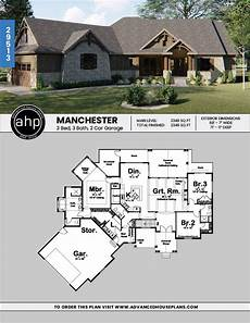 craftsman house plans one story 1 story craftsman house plan manchester craftsman