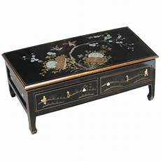 table basse chinoise table chinoise basse 2 tiroirs laque