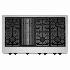 Kitchenaid Cooktop With Grill by Kitchenaid 48 In Gas Cooktop In Stainless Steel With