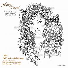 woodland fairies coloring pages 16582 woodland owl tangles printable coloring sheet page by norma j burnell