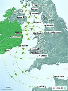 Fähre Frankreich Irland - stepmap f 228 hrverbindung nach irland landkarte f 252 r irland