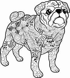 Ausmalbilder Hunde Erwachsene Hunde Mandala Als Pdf Zum Kostenlosen Runterladen