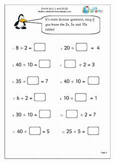 free division worksheets year 2 6900 divide by 2 5 and 10 2 division maths worksheets for year 2 age 6 7
