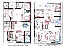 40x60 house plans 40x60 feet house plan with interior layout plan drawing