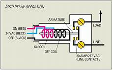ge relay switch wiring diagram ge rr7p 20a spst low voltage relay