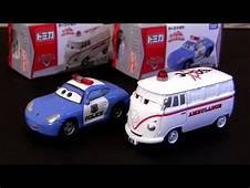 Tomica Cars Sally Police Car Fillmore Ambulance Rescue Go
