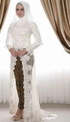 30 Model Kebaya Putih Akad Nikah Pengantin Modern