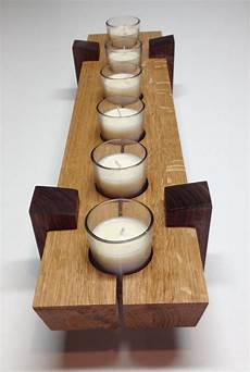 Wooden Candle Holder Table Center Dimensions 5 X