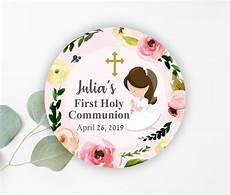 favor tags first communion floral first holy communion communion favors printable favor