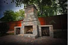 Schornstein Bausatz Stein - diy outdoor fremont fireplace kit makes hardscaping simple