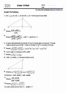 math geometry worksheets grade 10 808 grade 10 trigonometry workbook 100 problems with solutions and insights