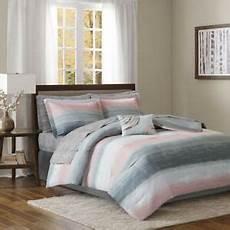 beautiful modern chic soft grey art abstract white pink comforter sheets ebay