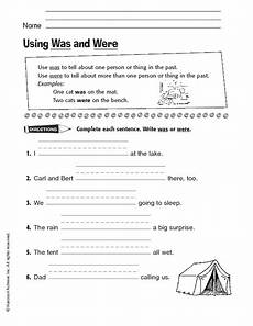 using was and were worksheet for 2nd 3rd grade lesson planet