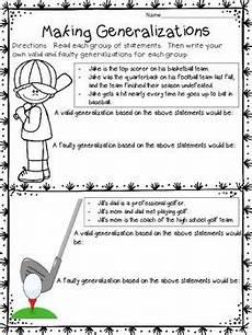 sports handwriting worksheets 15804 generalization worksheets writing valid and faulty generalizations sports generalizations