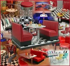 American Diner Einrichtung - messe mietmobiliar amerikanischer dinerstil dinerbank