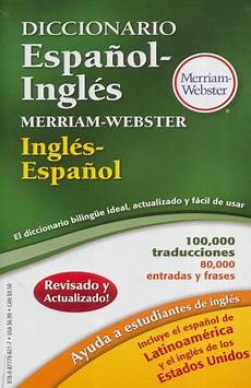 libreria webster diccionario espa 209 ol ingles ingles espa 209 ol merriam