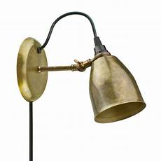 the lovell brass plug in wall sconce barn light electric