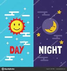 dibujos dia y noche dibujo d 237 a y noche plana dibujos animados vector de stock 169 tulpahn