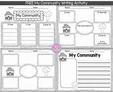 this week in social studies my first graders are learning all about communities to get them