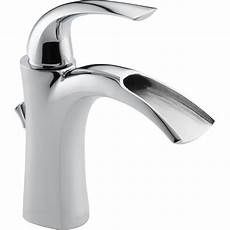 kitchen sink faucets lowes delta nyla chrome 1 handle single bathroom sink faucet at lowes