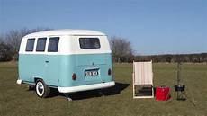 retro wohnwagen dub box mini caravan im stil des
