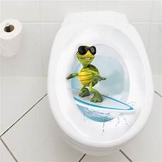 Wandkings Toilet Lid Decal Quot Surfing Turtle Quot 11 8 X 15 7