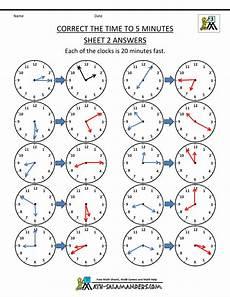 time worksheets math salamander 3089 telling time clock worksheets to 5 minutes