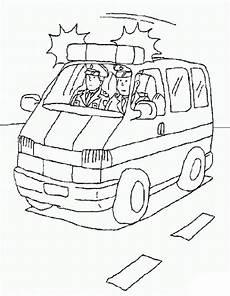 ausmalbilder zum drucken malvorlage polizeiauto kostenlos 2