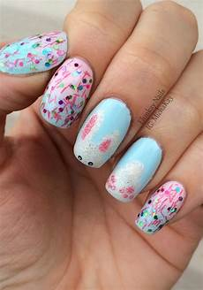 ehmkay nails shy bunny easter nail art
