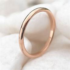 2mm half rose gold wedding ring wedding bands