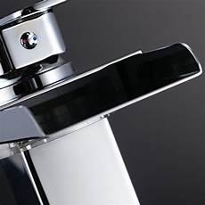 Waschtischarmatur Mit Led Beleuchtung - homelody wasserfall waschtischarmatur einhebel led