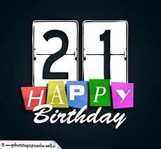 21 Geburtstag Happy Birthday Geburtstagskarte