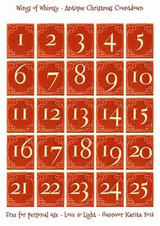 Calendrier De L Avent 7 Planches De Num 233 Ros Gratuit 224