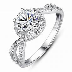 luxury engagement ring 1 carat simulated ring as
