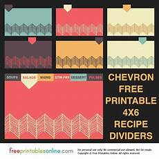 4x6 index card template free chevron 4x6 recipe divider cards free printables
