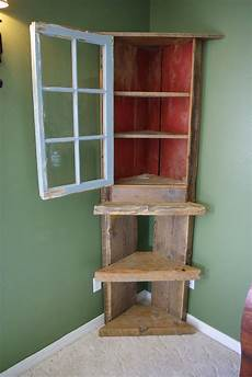 reclaimed rustics barn wood corner shelf hutch