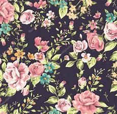 Flower Illustration Wallpaper by Classic Wallpaper Vintage Flower Pattern Background