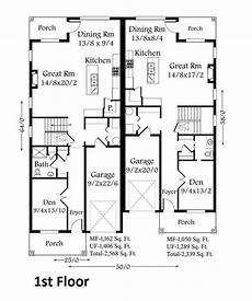 two storey duplex house plans craftsman two story duplex house plan