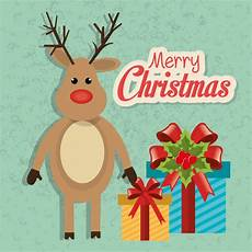 merry christmas colorful card vector free download