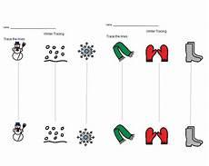 worksheets printable 20281 tracing vertical lines with images winter theme boardmaker preschool printables
