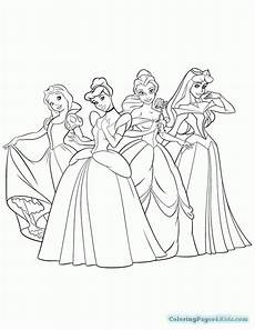 all disney princesses coloring pages coloring pages for