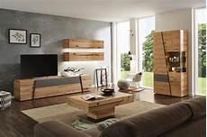 wohnwand in grau naturfarben von voglauer wohnzimmer