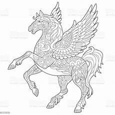 pegasus mythological winged stock vector
